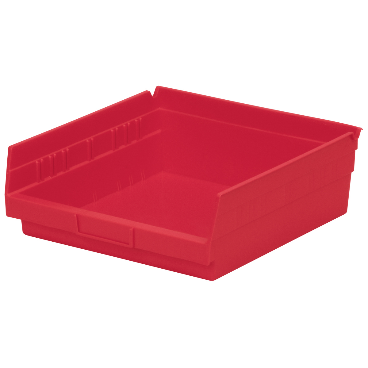 Akro-Mils Shelf Bin 11-5/8D x 11-1/8W x 4H Red  12 pack